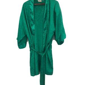 Vintage Victorias Secret Gold Label Robe Green
